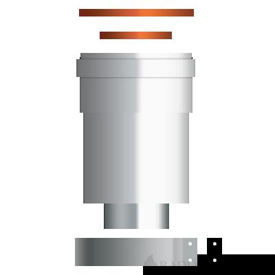 Ariston 60/100-80/80 PPS/Alu függőleges szétválasztó indító idom kondenzációs kazánhoz